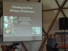 Dennis McKenna's presentation (Photo credit: Kevin Whitesides)