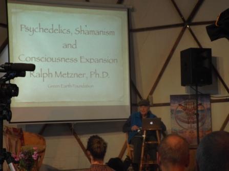 Ralph Metzner's presentation at Synergia Ranch, April 2016 (Photo credit: Kevin Whitesides)