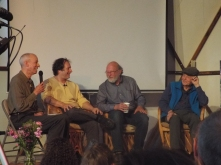 Panel #1 @ Synergia Ranch 2016 (Dr. George Greer?, Rick Doblin, Dennis McKenna, and Ralph Metzner)(Photo credit: Kevin Whitesides)