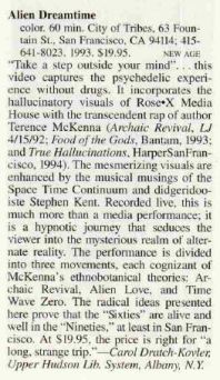 1995 - Library Journal - Alien Dreamtime